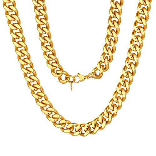 ChainsPro Chain Gold Plated 30 inch Large Mens Gold Necklace