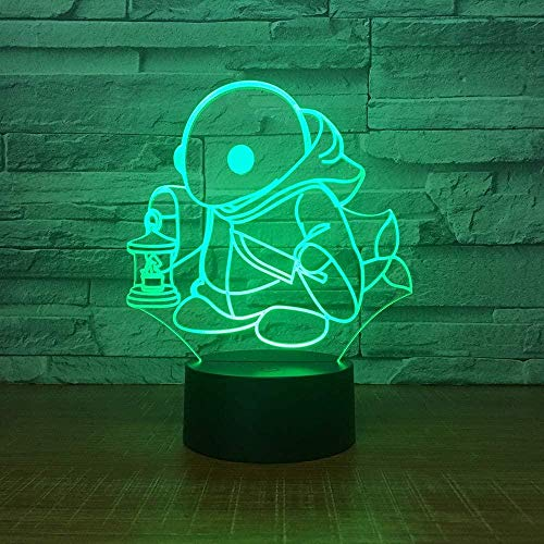 Cute Little Turtle S Night Light Illusion Night Light Suitable For Boys And Girls Bedroom Bar Living Room Birthday Christmas Gifts Usb Charging Touch Mode 7 Color Variations