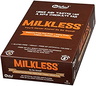 No Whey Foods - Milkless Chocolate Bars (16 Pack) - Vegan, Dairy Free, Peanut Free, Nut Free, Soy Free, Gluten Free