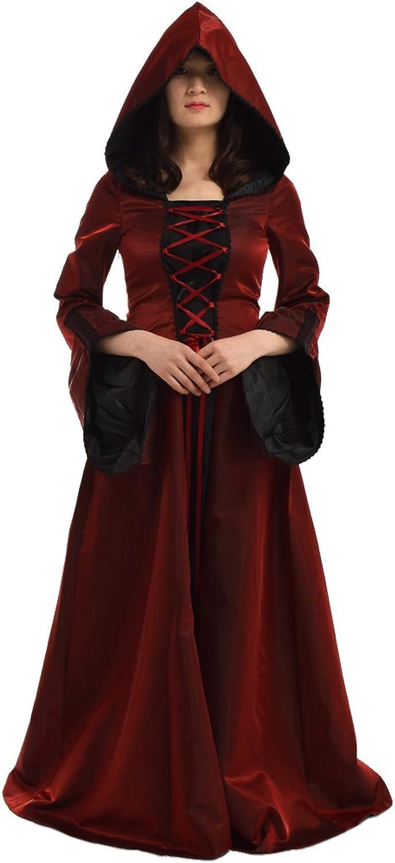 BLESSUME Gothic Renaissance Women Hooded Dress