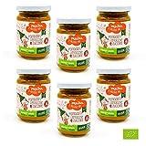 Pralina, pappa 12+ mesi, pappa pronta completa pomodoro lenticchie zucchine 130 g, il mio Piccolo Bio per svezzamento, confezione 6 pz
