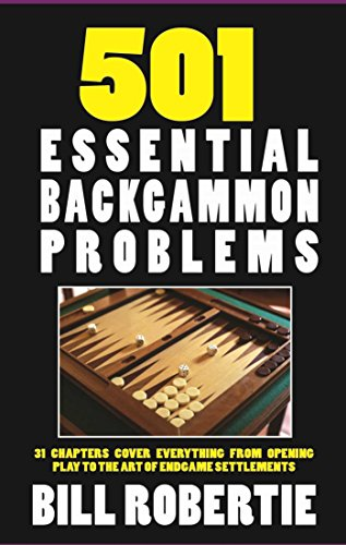 Compare Textbook Prices for 501 Backgammon Problems 1 New Edition ISBN 9781580423496 by Robertie, Bill