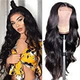 Lace Front Wigs Human Hair 4x4 Body Wave Lace Closure Human Hair Wigs for Black Women YYgY Hair Brazilian Virgin Human Hair Wigs Pre Plucked Hairline Natural Color (18inch)