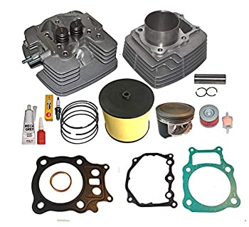 Top Notch Parts Replacement Fits Honda Rancher Trx350 TRX 350 Big Bore 355cc Cylinder Head Piston Kit 2000 2001 2002 2003 2004 2005 2006