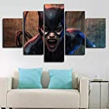 183Tdfc Cartel Cómico De Catwoman DC Moderno Cuadro En Lienzo 5 Piezas Sala Y...