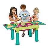 Keter Kindertisch mit 2 Hockern Spieltisch Kreativtisch Maltisch auch für Sand und Wasser...