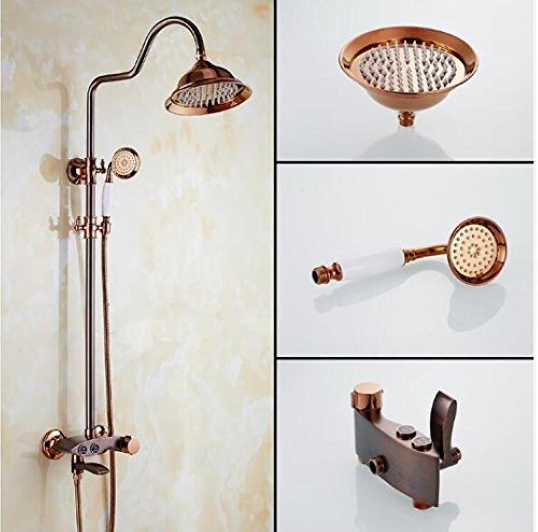 Makej Luxus Spezielle Farbe Bad Regendusche Wasserhahn Set Messing Badewanne Wasserhahn Mit Handbrause Wand Bad & Dusche Wasserhahn