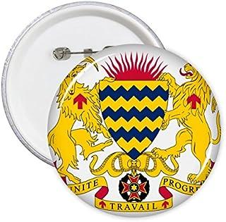 DIYthinker Tchad Bouton Emblème national Motif Mark Symbole Pays Ronde Pin Badge 5Pcs M