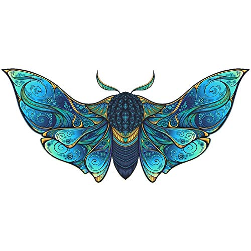 MZRI Wooden Jigsaw Puzzles, Unique Shape Animal Puzzle Jigsaw Pieces Table Game, Best Gift for Adults,Teens,Children, DIY Home Room Wall Decoration Craft Kits,Butterfly