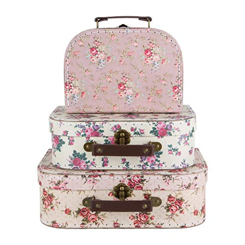 Sass & Belle Vintage Rose Suitcases - Set of 3
