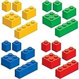 20 Brick Builders Blocks Wall Decal Stickers Pack, Set of 20 Blocks in...