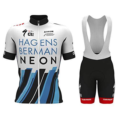 N/A Bodies de Ciclismo para Hombre~Mangas Cortas Jersey Ciclismo Culote Conjunto 9D Acolchado De Gel,Transpirable/Secado rápido,para MTB,Bicicleta.N001,XL
