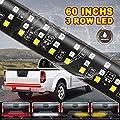 "Tailgate Light Bar- 60""Triple LED Truck Tailgate Light, Red LED Brake Light Strip, LED Solid Beam Weatherproof No Drill Install, Full Function Running Light Brake Light Turn Signal Light Reverse Light"