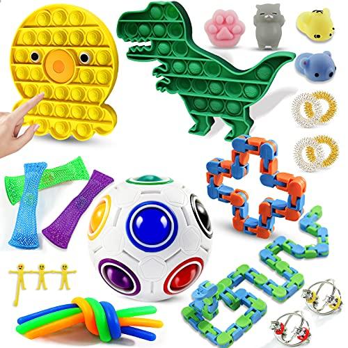 WTOR Fidget Packs Sensory Toys Set Push Bubble Stress Relief Toys Anti-Anxiety Tools Stocking...