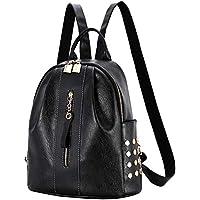 Asdssry Waterproof Leather Convertible Women's Backpack