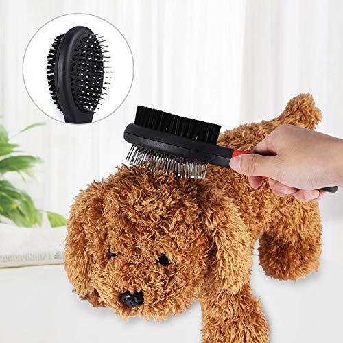 Rosvola Haustierbürste, Hundebürste, Haustierpflegebürsten Haustierkamm, Modekatzenbürste Demattierungskamm Hundepflege Multifunktions-Welpenpflegewerkzeug