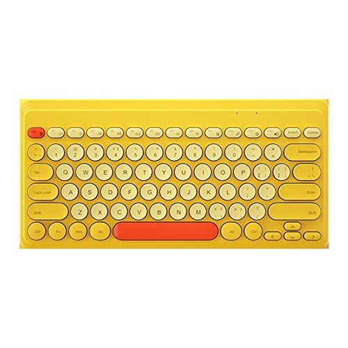 weichuang Keyboard Wireless Keyboard Mini Round Button Gaming Keyboard For Macbook Laptop -iPad Tablet Computer Keypad keyboard (Color : Yellow)
