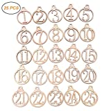 25pcs Weihnachtskalender Tags 1-25 Holz Weihnachts Adventskalender Geschenk Tags Home Party...