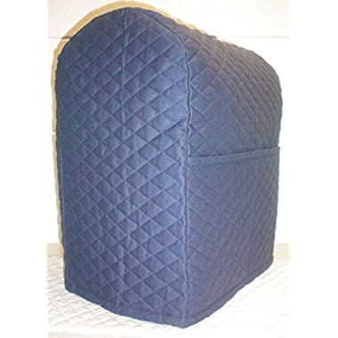 Quilted Kitchenaid Lift Bowl Stand Mixer Cover (Navy Blue)