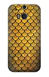 R2949 Gold Fish Scale Case Cover For HTC ONE M8