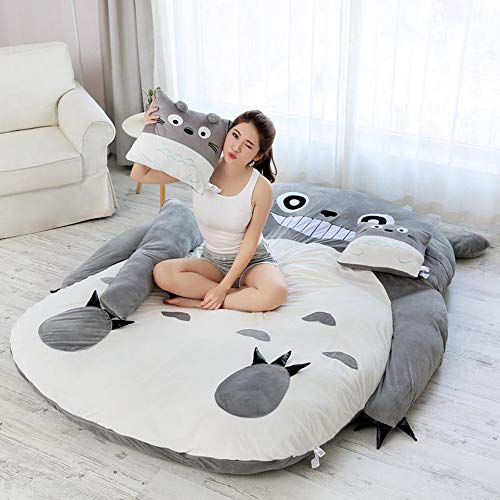 ZRSH Cartoon-Design Totoro Matratze, Weich, Dick, Comic-Stil, Tatami Dormitory, Matratze, Dick, Sofa, Super Weich, Schlafbett,120 * 80 cm