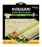 Norigami Egg Wraps Pea Protein -High Protein,Low Carb,Vegetarian Thin Healthy Wrap for Sandwiches - Ready To Fill And Serve-Certified Kosher,Non GMO,Gluten Free - 6 Wraps Pea Wrap Chia Seeds (1 Pack)