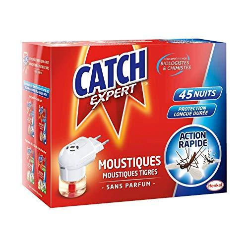 CATCH Expert Diffuseur Electrique Liquide Anti-Moustiques & Moustiques Tigres Sans Parfum -45 Nuits