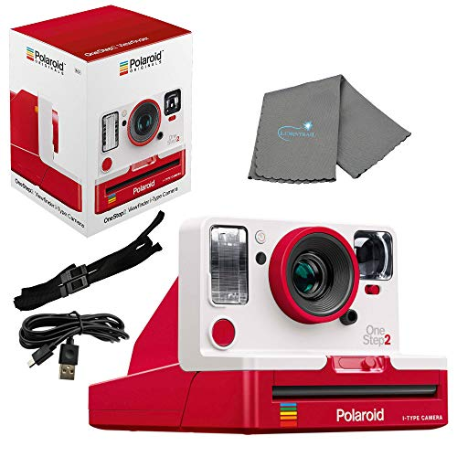 Polaroid OneStep 2 Viewfinder i-Type Camera, Red Bundle with a Lumintrail Cleaning Cloth