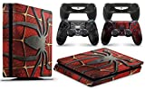 giZmoZ n gadgetZ PS4 Slim Console Spiderman Skin Decal Vinal Sticker + 2 Controller Skins Set