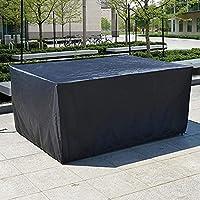 ガーデンファニチャーカバー防水、パティオ家具セットカバーファブリックUV耐性保護カバーテーブルチェアソファ屋外130x130x100cmブラック