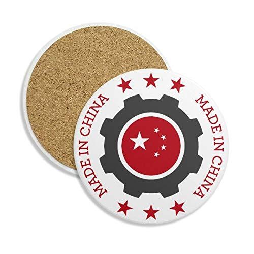 National étoiles Cog Rouge chinois Pierre Boisson Céramique Dessous-de-verre pour mug Tasse cadeau 2 pcs