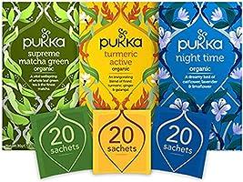 Pukka Thee Day 2 Night Bundel, Moederdag geschenkset - 60 zakjes - 3 smaken x 20 zakjes