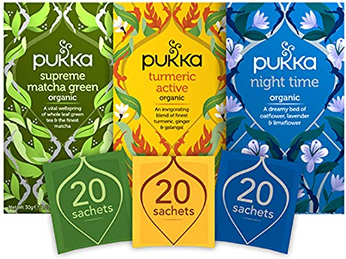 Pukka Thee Day 2 Night Bundel, Moederdag geschenkset – 60 zakjes – 3 smaken x 20 zakjes