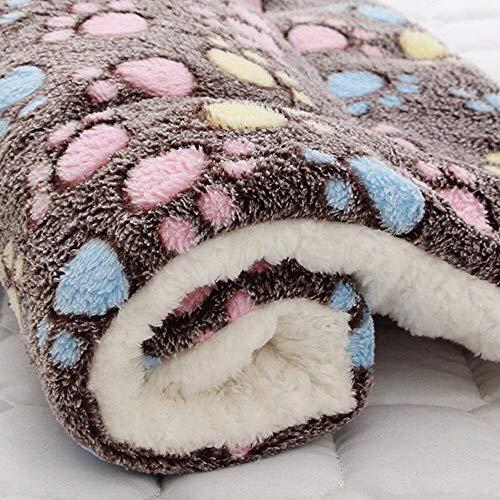 skonhedy Flanell Warm Schlafenauflage Hundedecke, Dickes Kissen Haustier-Matten-Katzen-Bett für Small Medium Large Pet (XL, Kaffee)