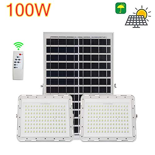 XP Luces Solares de Inundación LED Super Brillante Luz Solar 100W / 200W / 300W Exterior Jardín De La Luz Solar Proyectores A Prueba Exterior De Agua con Control Remoto (Size : 200w)