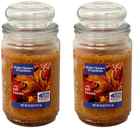 Better Homes Gardens 18oz Scented Candle Crisp Fall Leaves 2 Pack product image