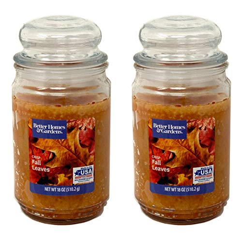 Better Homes Gardens 18oz Scented Candle, Crisp Fall Leaves 2-Pack