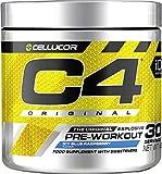 Poudre pré-entraînement C4 Original - framboise bleue glacée | Boisson énergisante pré-entraînement | 150 mg de caféine + bêta-alanine + monohydrate de créatine | 30 portions