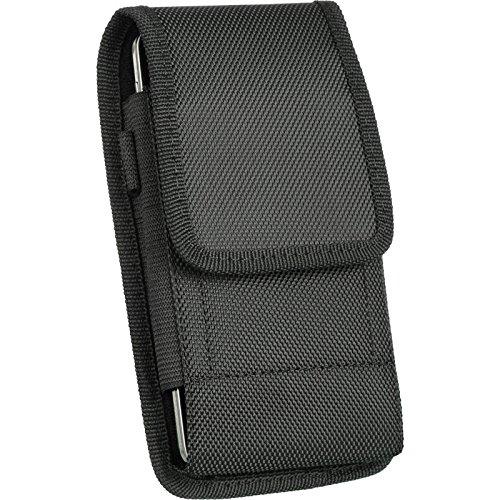 iNNEXT Funda vertical Oxford para iPhone 8 y iPhone 7 y 6S con clip de cinturón de acero de seguridad, funda universal para teléfonos inteligentes de 4.7 pulgadas