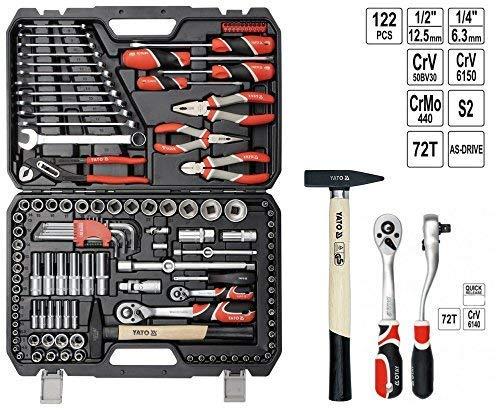 """YATO YT-38901 - socket set 1/4"""", 1/2"""" 122pcs"""