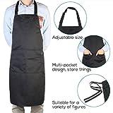 Pixnor BBQ Grillschürze Küchenschürze Mit Taschen Für Männer Schwarz - 2