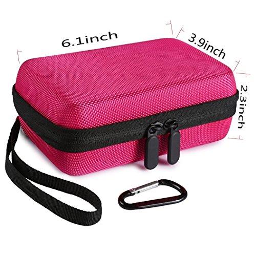 Faylapa Hard Case for HP Sprocket,EVA Nylon Shockproof Carrying Bag fit Phone Sprocket Portable Photo Printer,Anker Hard Drive (Rose Red) Photo #8