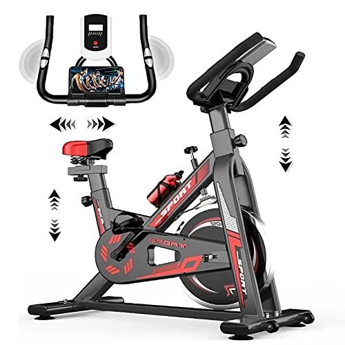 WOERD Bicicleta De Spinning MagnéTica, Bici Spinning Bici EstáTica Indoor Bicicleta Estatica De Spinning Bici Ejercicio Gym Casa Indoor Fitness Volante 6kg