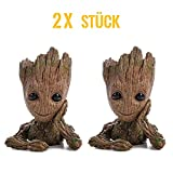WILLBAN Baby Groot Blumentopf - Figur aus Guardians of The Galaxy für Stiftehalter Sukkulenten...