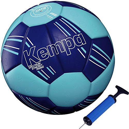 Kempa handball Spectrum Primo Top Training & Spielball blau + Ballpumpe (1)