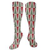 Calcetines de sandalia, motivos tradicionales de Navidad con lunares y árbol abstracto, calcetines divertidos para mujer, calcetines de algodón para mujer