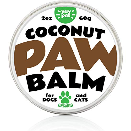 YAY PET Dog Paw Balm Wax Soother & Moisturizer Cream with Natural Food-Grade Coconut Oil, Organic...