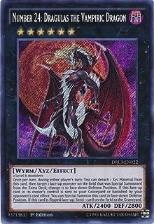 Yugioh Number 24: Dragulas the Vampiric Dragon DRL3-EN022 Secret Rare