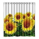 Wild costumes 167 cm X183 cm (167,6 x 182,9 cm) Badezimmer Dusche Vorhang, allgemeine Beautiful Sunflower Custom Design Casual Fashion Wasserdicht Duschvorhang, Polyester, E, 168 x 183 cm