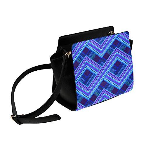 Blue Tartan Plaid Pattern Style Umhängetasche Umhängetaschen Reisetaschen Seesack Umhängetaschen Gepäck Organizer Für Lady Girls Womens Work Shopping Outdoor